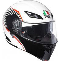 AGV Compact-ST Vermont White / Black / Red Flip Front Helmet