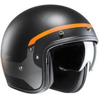 HJC FG-70S Modik - Black / Orange Open Face Helmet