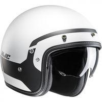 HJC FG-70S Modik - Black /  White Open Face Helmet