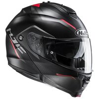 HJC IS MAX 2 Dova Black Red Flip Front Helmet