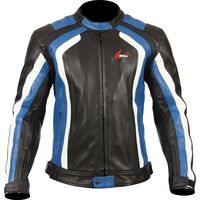 Weise Corsa RS Black Blue Leather Jacket