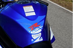 Suzuki GSXR 1000 Tank Pad Protector Blue White