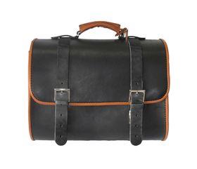 Vespa Sprint Leather Top Bag Black