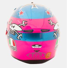AGV K3 SV Guy Martin Pink Blue Skull Replica Helmet