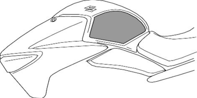 Suzuki Inazuma 250 Fuel Tank Side Protection Set