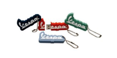 Vespa usb sticks, key rings