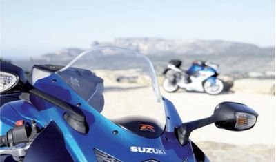Suzuki GSX-R 750 double bubble windshield