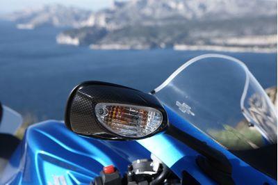 Suzuki GSXR mirror cover set