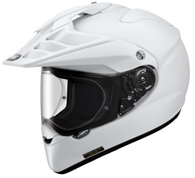Shoei Hornet ADV white motorcycle helmet