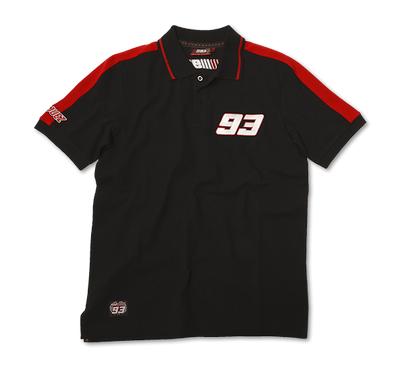 Marc Marquez Polo T-Shirt Black Front