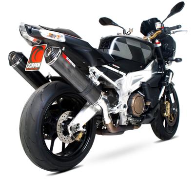 Scorpion Factory Twin Exhausts Aprilia RSV1000 Factory Mille R Tuono