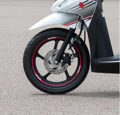 Suzuki Address 110 Wheel Rim Decal Red