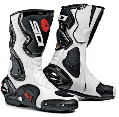 Sidi cobra motorcycle boots in white and black