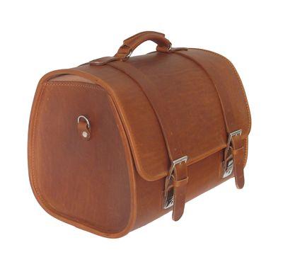 Vespa Sprint Leather Top Bag Brown