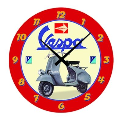 Vespa Wall Clock Scooter