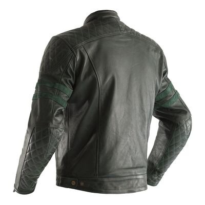 RST Isle Of Man TT Hillberry Leather Jacket - Green