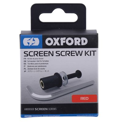 Oxford Screen Screw Kit - Red