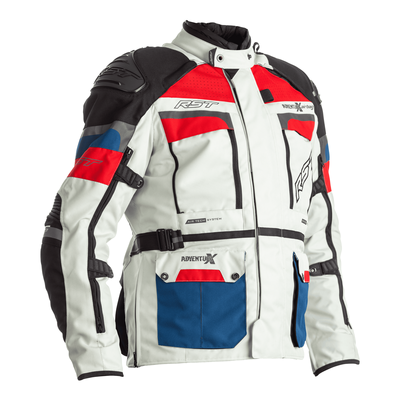RST Pro Series Adventure-X CE Airbag Textile Jacket - Ice / Blue / Red