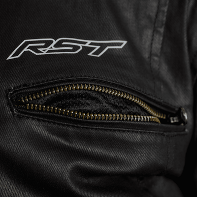 RST Brixton Wax Jacket - Black