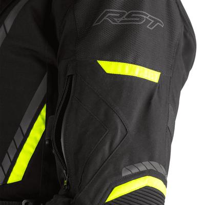 RST Pro Series Pathfinder Laminated Textile Jacket - Black / Flo Yellow