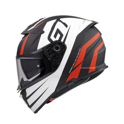 Premier Devil Sport Touring Helmet - Black / White / Red | Premier Helmets from Two Wheel Centre