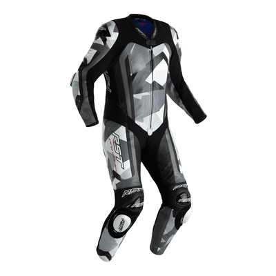 RST Pro Series Airbag CE Leather One Piece Suit - Grey Camo