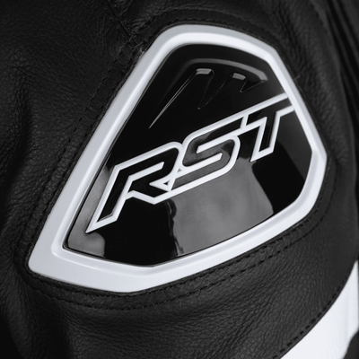 RST Podium Airbag CE Leather One Piece Suit - White/Black