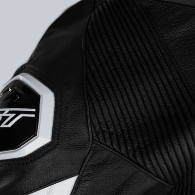 RST Podium Airbag CE Leather One Piece Suit - White/Black RST Podium Airbag CE Leather One Piece Suit - White/Black