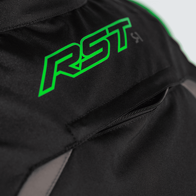 RST S-1 CE Textile Jacket - Black/Grey/Neon Green