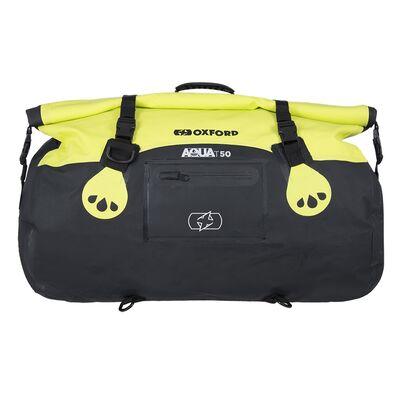 Oxford Aqua T50 All-Weather Roll Bag - Black/Fluo