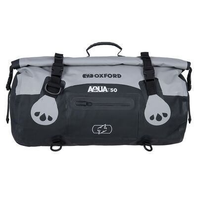 Oxford Aqua T50 All-Weather Roll Bag - Black/Grey