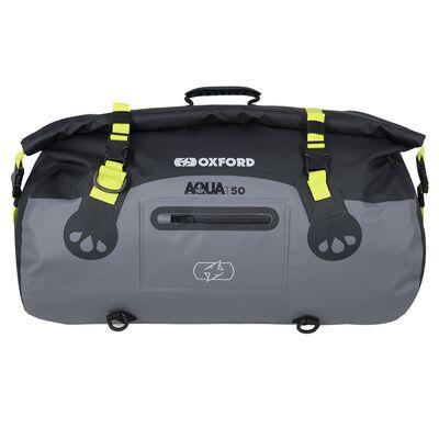 Oxford Aqua T50 All-Weather Roll Bag - Black/Grey/Fluo