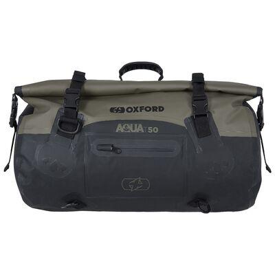 Oxford Aqua T50 All-Weather Roll Bag - Black/Khaki