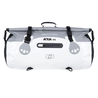 Oxford Aqua T50 All-Weather Roll Bag - White/Grey
