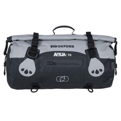 Oxford Aqua T70 All-Weather Roll Bag - Black/Grey