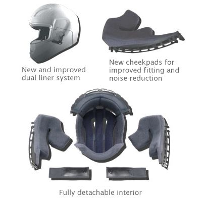 Shoei XR1100 Removable Comfort Liner