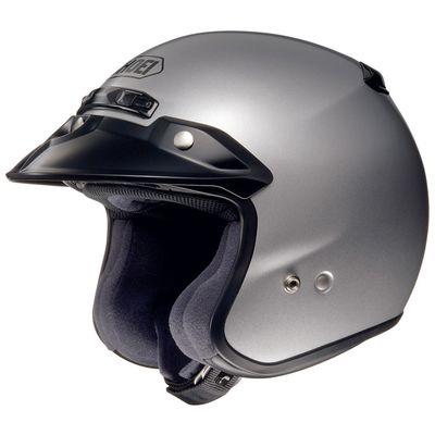 Shoei RJ Platinum R Silver Open Face Helmet