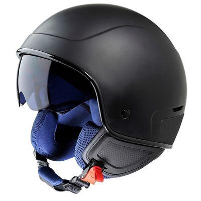 Piaggio PJ1 Open Face Helmet Black
