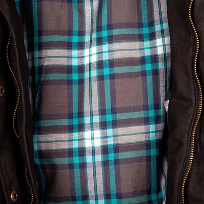 Spada Hartbury Ladies Jacket Tartan Pattern Inside View
