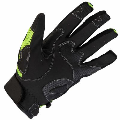 Spada MX Air Gloves Fluorescent Yellow Underneath View (Please note this listing is for the Spada MX Air Gloves White)