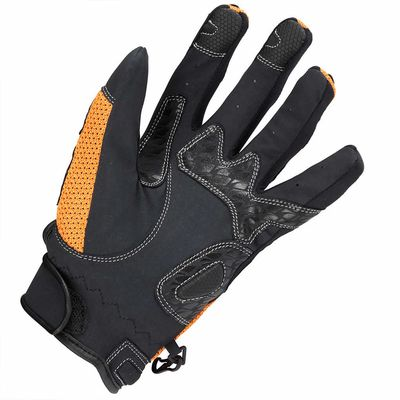Spada MX Air Gloves Orange Underneath View (Please note this listing is for the red style)