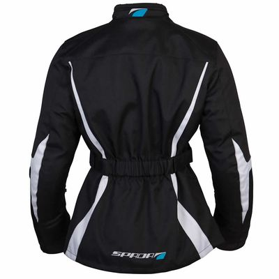 Spada Planet Ladies Jacket in Black / Grey Right Side View