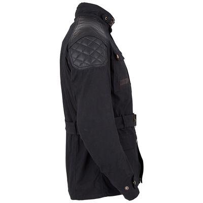 Spada Staffy Wax Jacket Black Side View Two