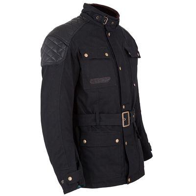 Spada Staffy Wax Jacket Black Side View