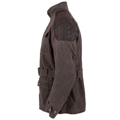 Spada Staffy Wax Jacket Brown Side View Two
