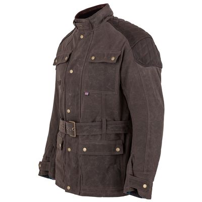 Spada Staffy Wax Jacket Brown Side View