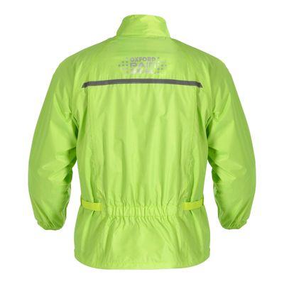 Oxford Waterproof Jacket Fluo Yellow Rear View