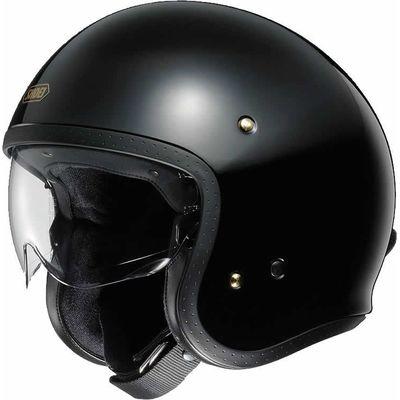 Shoei J.O gloss black motorcycle helmet