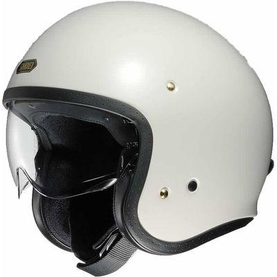 Shoei J.O off white motorcycle helmet