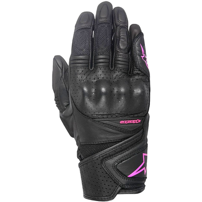 Alpinestars Stella Baika Ladies Leather Gloves Black Pink